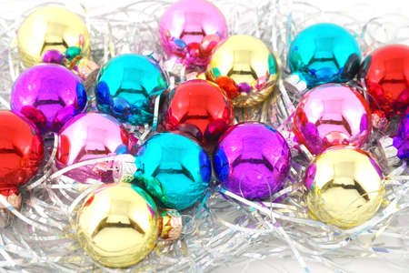 Holiday decoration, color balls for New Year Stock Photo - 18029836