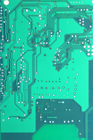 Abstract background with old computer circuit board photo