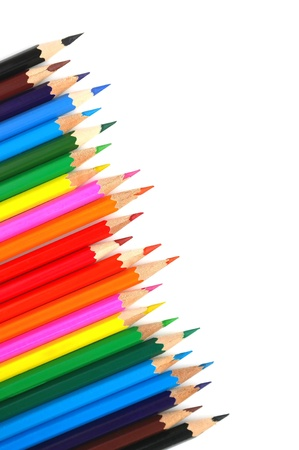 Abstract background from color pencils photo