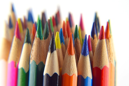 Color pencils, view macro, shallow dof photo