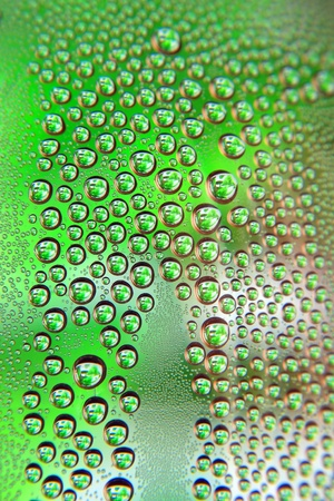 Abstract water drops background, shallow DOF photo