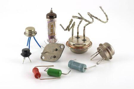 Old electonics components photo