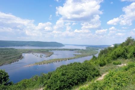 ロシア、サマラ市大河川ヴォルガ