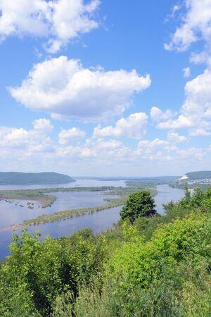 the volga river: Russia, Samara city, great river Volga