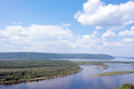 Russia, Samara city, great river Volga photo