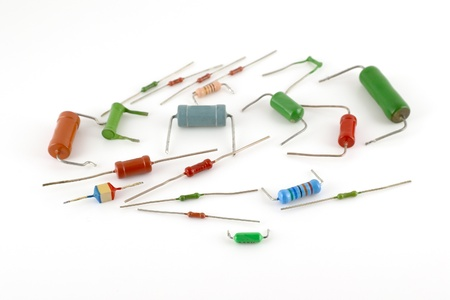 Elektronische componenten - weerstanden over wit