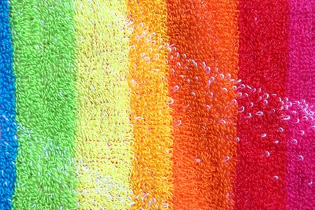 Color towel macro texture. Abstract background photo
