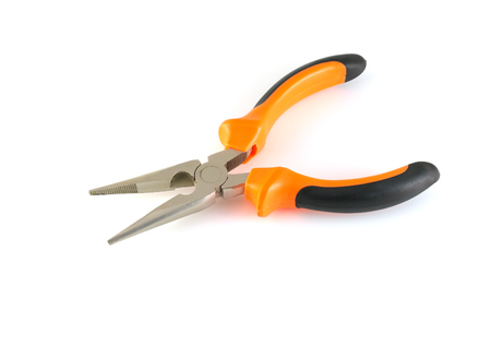 Orange and Black electrician pliers photo