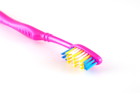 Tooth-brush over white. Shallow DOF. Stock Photo