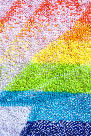 terry: Color towel macro texture. Abstract background