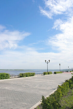 View on quay of river Volga in the city Samara photo