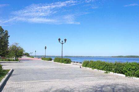 View on quay of river Volga in the city Samara Stock Photo