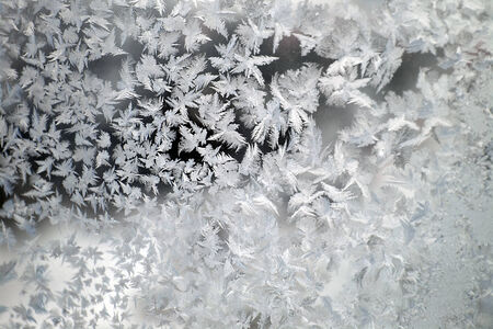 Abstract texture, pattern frost on the window photo