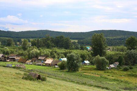 village paysage Belle d'été Banque d'images