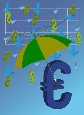 Euro is closed ������ from falling dollars Vector