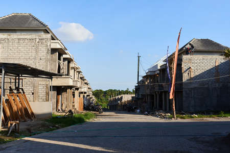 New and modern residential complexes are being built in Indonesia, the island of Bali