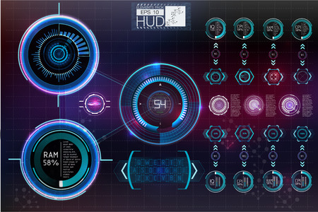 Futuristic user interface.HUD background outer space.  Infographic elements. Digital data, business abstract background.  Infographic elements.
