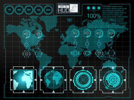 business space: Futuristic user interface.HUD background outer space.  Infographic elements. Digital data, business abstract background.  Infographic elements.