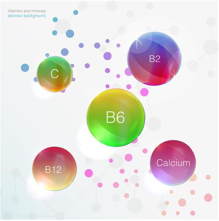 vitamin e: Serum and Vitamin Blue Concept Skin Care Cosmetic Illustration