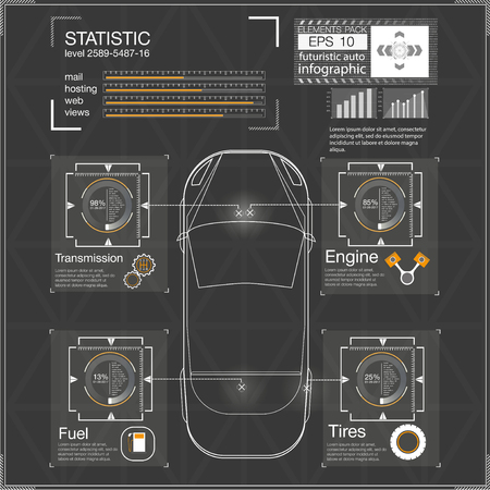 dashboard: Futuristic user interface, HUD Ui, Abstract virtual graphic touch user interface