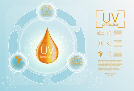 Ultraviolet sunblock icon Vector illustration Illusztráció