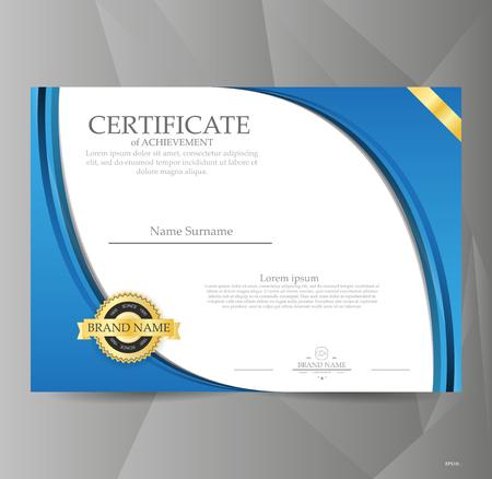 Vector certificate template. Illustration