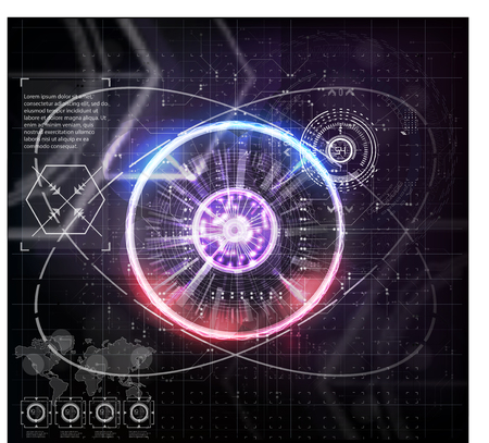Virtual Interface Elements Sci- Fi Modern User For Graphic Motion Hud futuristic element. Set of Circle Abstract Digital Technology UI Futuristic HUD