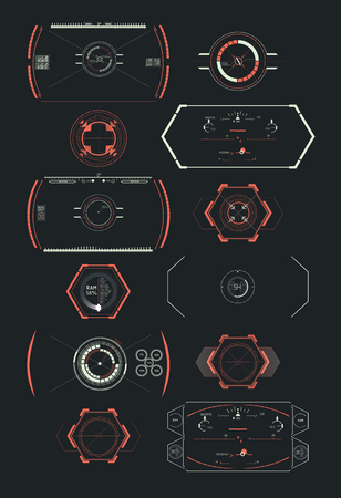 Hud futuristic element. Set of Circle Abstract Digital Technology UI Futuristic HUD Virtual Interface Elements Sci- Fi Modern User For Graphic Motion Ilustrace