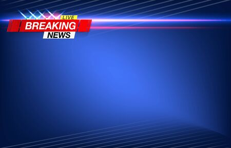 Banner breaking news, important news, headline in the form of flashing lights police. Vector image.