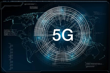 5G New Wireless Internet Connection. Global Network High Speed Innovation