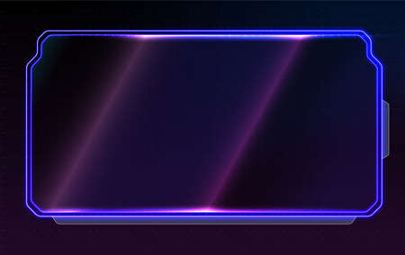 Abstract glowing conceptual layout for ui, apps and game. Futuristic frame template design for interface. Illusztráció