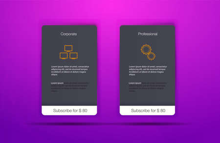 Pricing Table with Four Options Price comparison table. Art design modern banner list. Abstract concept graphic websites, applications element