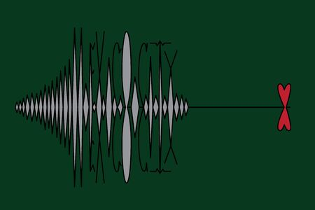MEXICO CITY, MEXICO, 19 September 2017 - Earthquake hits Mexico City. Vector illustration of a richter scale type and heart on green background.