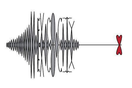 MEXICO CITY, MEXICO, 19 September 2017 - Earthquake hits Mexico City. Vector illustration of a richter scale type and heart on white background.