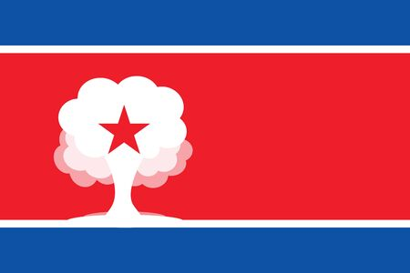 PYONGYANG, NORTH KOREA, 22 September 2017 - North Korea threatens to test a Hydrogen Bomb in Pacific Ocean.
