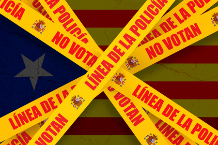 CATALONIA, SPAIN, 3 October 2017 - Spanish government and police forces violently close down unofficial Catalan referendum, sealing off voting booths, confiscating ballots and injuring voters. Editorial