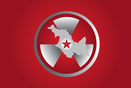 PYONGYANG, NORTH KOREA - North Korean Nuclear Symbol for all the tests theyre having.