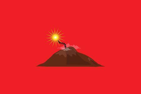 BALI, INDONESIA, 27 September 2017 - Volcano Warning! Mount Agung eruption eminent. Stock Photo - 89387996