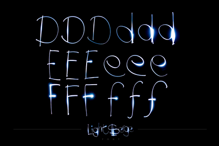 Light Painting Alphabet - Light Serge Font DEF