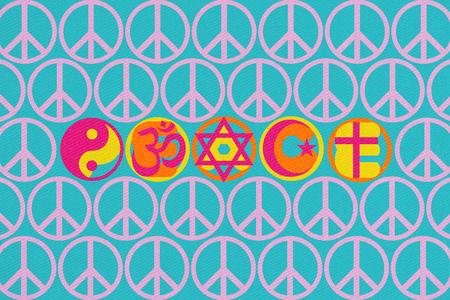 Illustration of idea showing Peace on Earth. Stock Illustration - 91661034
