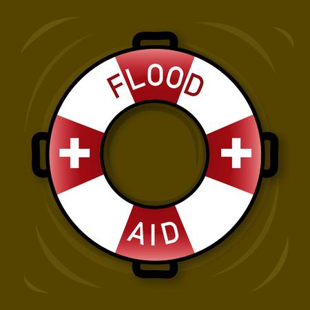 Illustration of symbol for Flood Aid. Stock Illustration - 92310872