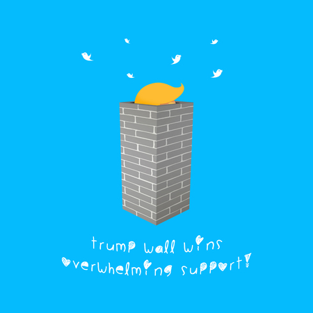 Illustration idea of Trump Wall that might be popular.