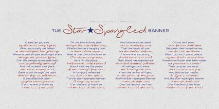 The United States of America anthem - The Star-Spangled Banner.