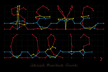 Stock Market Font - Currencies and Punctuation