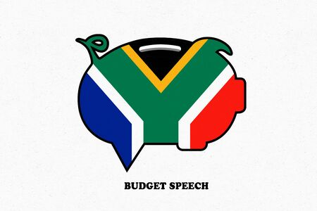 SOUTH AFRICA, 21 February 2018 - Illustration idea for the South African Budget Speech. Editorial