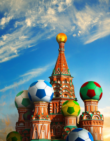 RUSSIA, 14 June to 15 July 2018 - Photo manipulated image for the 2018 FIFA Football World Cup.