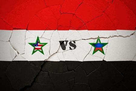 SYRIA, 14 April 2018 - USA vs Russia over Syria. Editorial