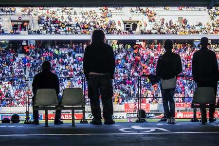 CAPE TOWN, SOUTH AFRICA, 12 May 2018 - Diverse South African football supporters during PSL football match between Ajax Cape Town and Kaiser Chiefs. Editorial