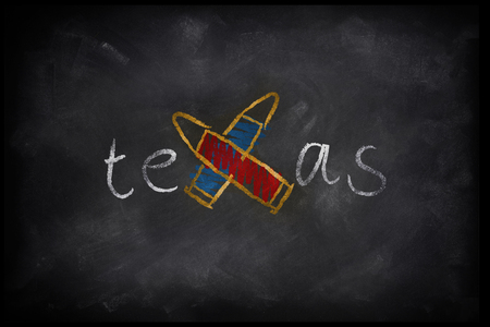 SANTA FE, TEXAS, USA, 18 May 2018 - 3D Rendering for Texas school shooting reigniting gun law debate.