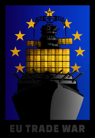 Illustration for European Union trade war against other countries.